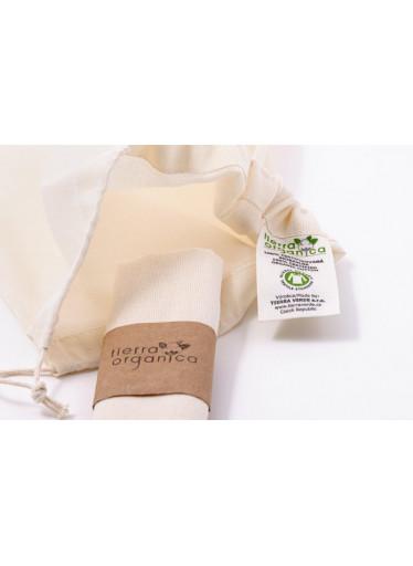 Casa Organica Plátěný sáček - malý (balení po 3 ks) - z biobavlny, s utahovací šňůrkou