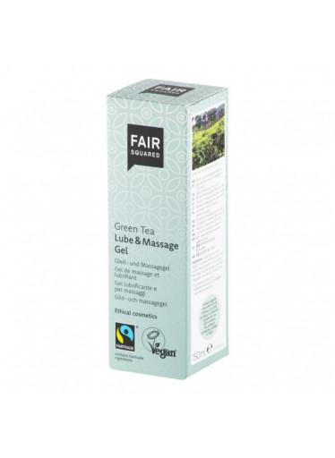 Fair Squared Lubrikační a masážní gel se zeleným čajem (150 ml) - veganský a fair trade