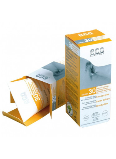 Eco Cosmetics Opalovací krém SPF 30 BIO (75 ml) - 100% přírodní, s minerálními filtry