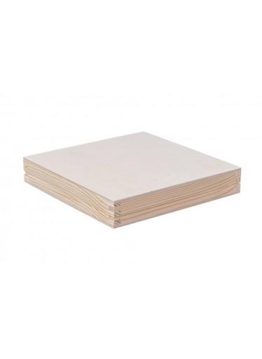 ČistéDřevo Dřevěná krabička 20 x 20 x 3,5 cm