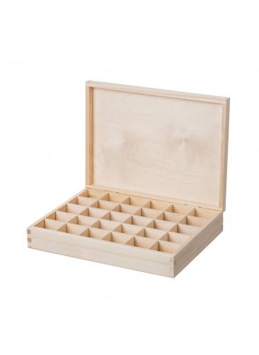ČistéDřevo Dřevěná krabička (30 přihrádek)