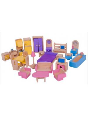 Bigjigs Dřevěný dětský nábytek - 26 ks