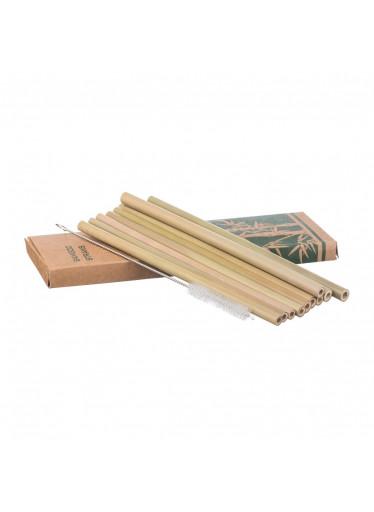 ČistéDřevo Bambusová brčka - sada 10 ks