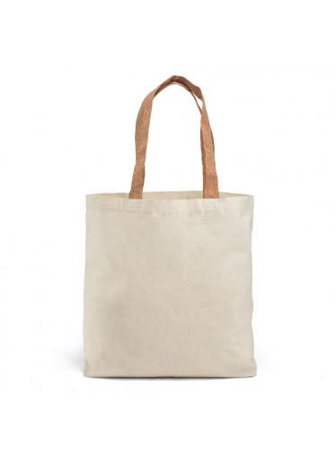 ČistéDřevo Bavlněná nákupní EKO taška s korkovým uchem