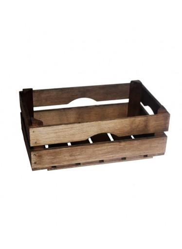 ČistéDřevo Dřevěná bedýnka 34 x 20 x 12.5 - mořená