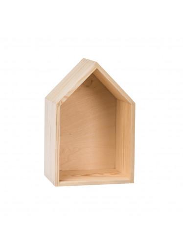 ČistéDřevo Dřevěná polička domeček - malá