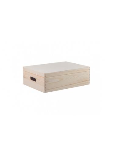 ČistéDřevo Dřevěný box s víkem 40X30X14 CM