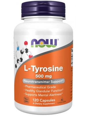 NOW L-Tyrosine, 500 mg, 120 kapslí