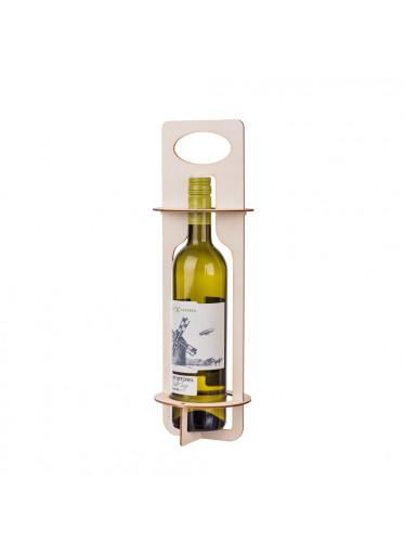 ČistéDřevo Skládací stojan na láhev vína