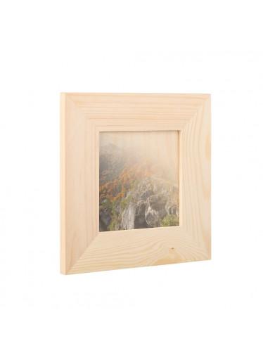 ČistéDřevo Dřevěný fotorámeček na zeď 18.5 x 18.5 cm