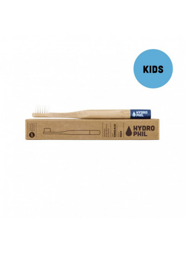Hydrophil Bambusový kartáček pro děti (soft) - modrý - 100% z obnovitelných zdrojů