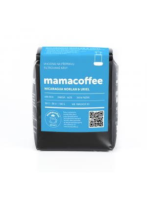 mamacoffee zrnková káva Nicaragua Norlan & Uriel 250g - intenzivní a komplexní chuť rumu, tmavých třešní brusinek