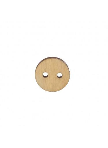 ČistéDřevo Dřevěný kulatý knoflík 1,5 cm