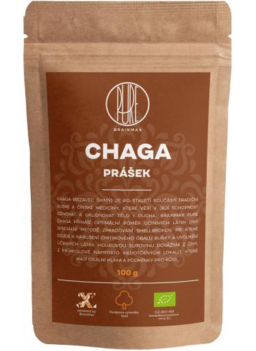 BrainMax Pure Chaga prášek, BIO 100g