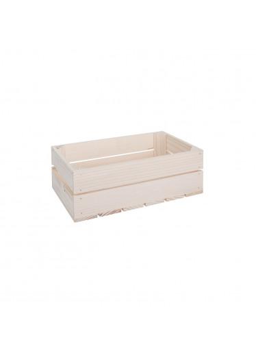ČistéDřevo Dřevěná bedýnka 34 x 20 x 12 cm