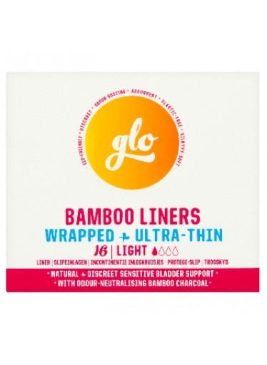 GLO Ultra tenké inkontinenční slipové vložky z bio bambusu Light 16 ks