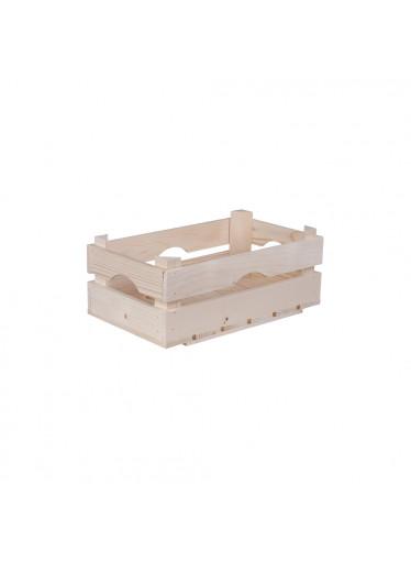 ČistéDřevo Dřevěná bedýnka 34 x 20 x 14 cm