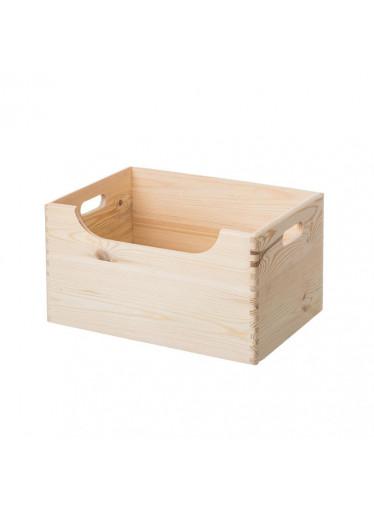 ČistéDřevo Dřevěný box na ovoce s výkrojem