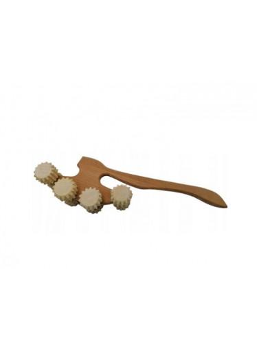 ČistéDřevo Ruční dřevěný masážní strojek