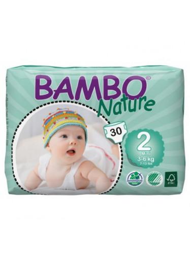 Bambo Nature plen.k. vel. 2 pro 3-6kg 30ks