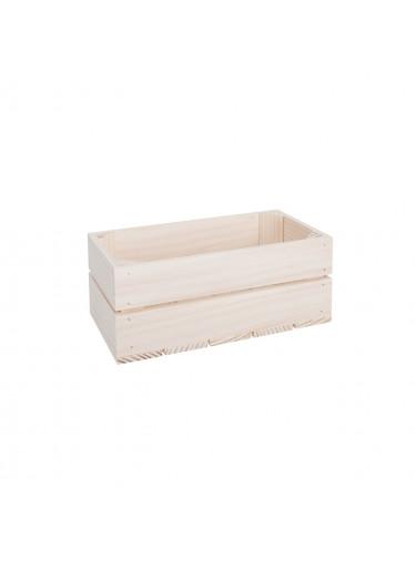 ČistéDřevo Dřevěná bedýnka 28 x 15 x 12 cm