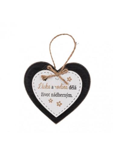 ČistéDřevo Dřevěná cedulka láska a rodina dělá život nádherným