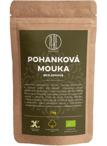 BrainMax Pure Pohanková mouka - bezlepková BIO, 1 kg