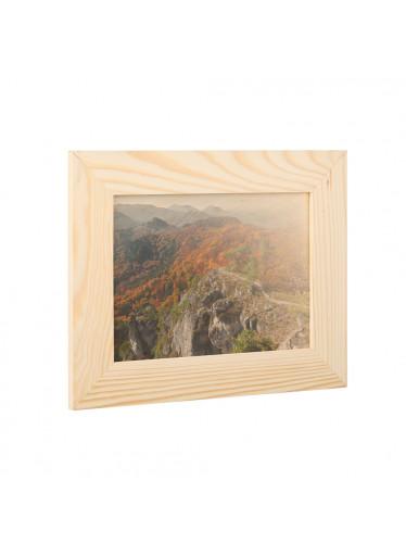 ČistéDřevo Dřevěný fotorámeček na zeď 28 x 22 cm
