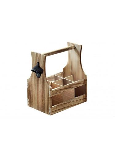 Kesper Dřevěný nosič s otvírákem