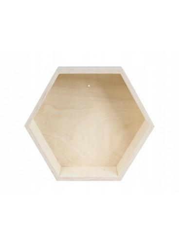 ČistéDřevo Dřevěná police - hexagon