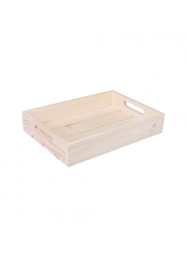 ČistéDřevo Dřevěná bedýnka 32 x 22 x 6 cm