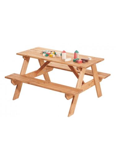 ČistéDřevo Dřevěná dětská lavice se stolem