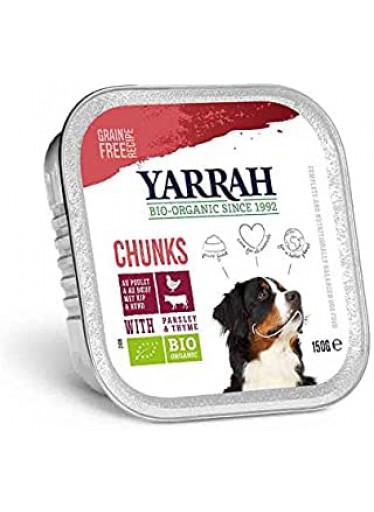 Kuřecí a hovězí kousky ve šťávě - Yarrah BIO 150g