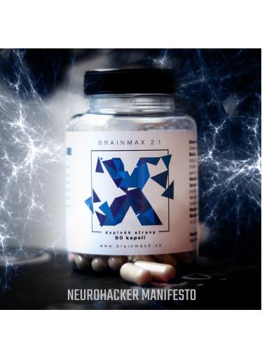 BrainMax 2.1 NeuroHacker Manifesto ALPHA UPGRADE, 60 kapslí