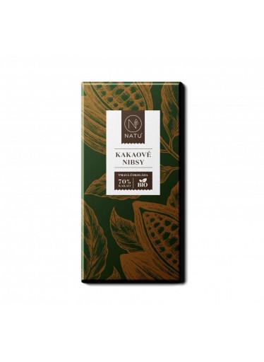 NATU Hořká čokoláda Kakaové nibsy BIO 45 g