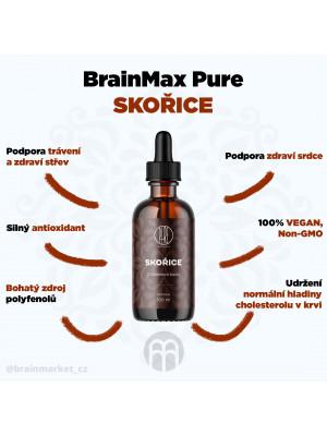 BrainMax Pure Skořice tinktura (Cinnamon bark), 100 ml