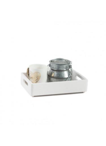 ČistéDřevo Dřěvěná bedýnka 30x20x7 cm - bílá