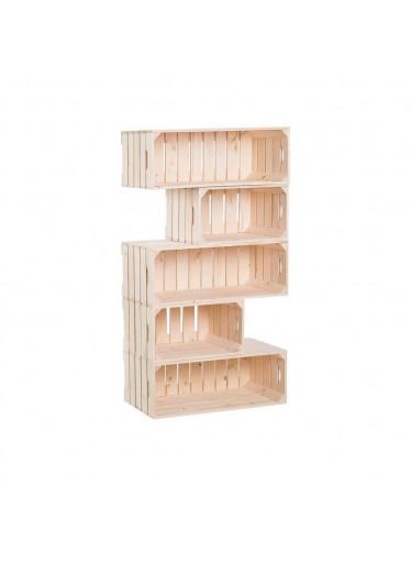 ČistéDřevo Dřevěné bedýnky knihovna 150 x 60 x 30 cm
