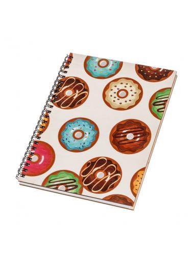 ČistéDřevo Dřevěný blok A5 - donuts