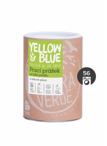 Yellow & Blue Prací prášek na bílé prádlo a látkové pleny - INOVACE (dóza 850 g)