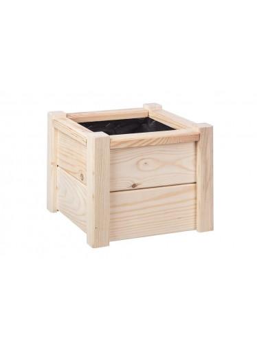 ČistéDřevo Dřevěný květináč - čtverec 26 cm