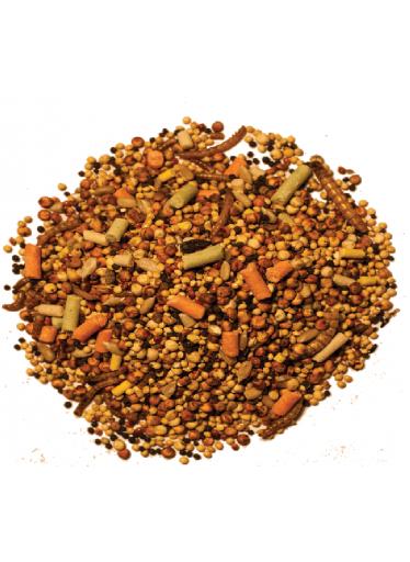 Směs semínek s lojovými peletkami a moučnými červy 2 kg
