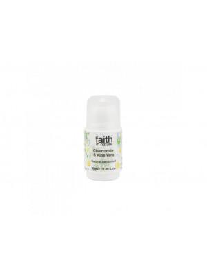 Faith in Nature, Kuličkový Krystal Deodorant - Bio Aloe Vera/Heřmánek, 50g