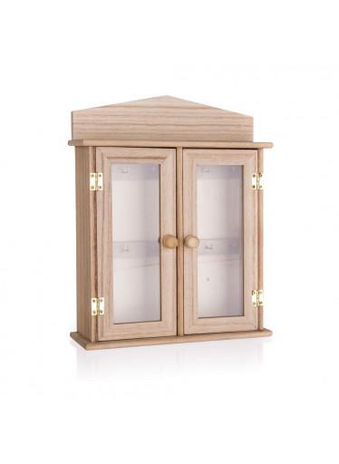 ČistéDřevo Dřevěná skříňka na klíče - 27 x 21 x 6,5 cm