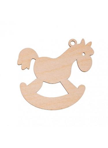 ČistéDřevo Dřevěná vánoční ozdoba - koník