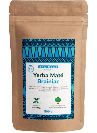 BrainMax Pure Organic Yerba Maté - Brainiac, 500 g