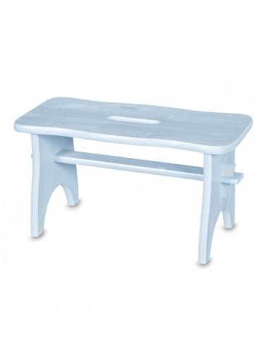 ČistéDřevo Dřevěná stolička - světle modrá