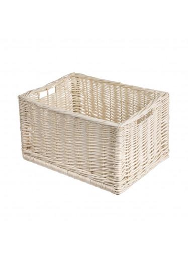 ČistéDřevo Proutěná zásuvka bílá 40x30x23 cm