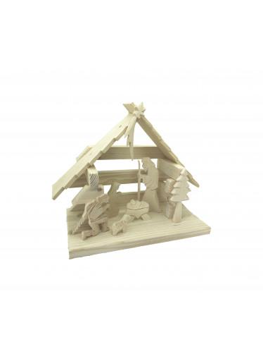ČistéDřevo Dřevěný betlém XXII