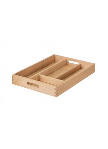 ČistéDřevo Zásobník na příbory dřevěný 34 x 25 x 5 cm